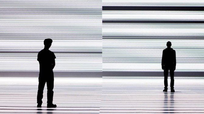 Ryoji Ikeda, test pattern [enhanced version], 2011 © Ryoji Ikeda Image: Park Avenue Armory New York and Forma © James Ewing